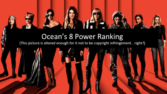 Ocean's 8 Power Ranking